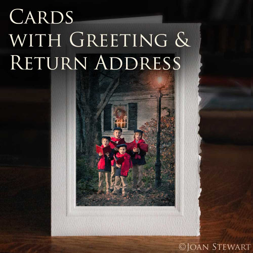Fine Art Cards w/Greeting & Return Address