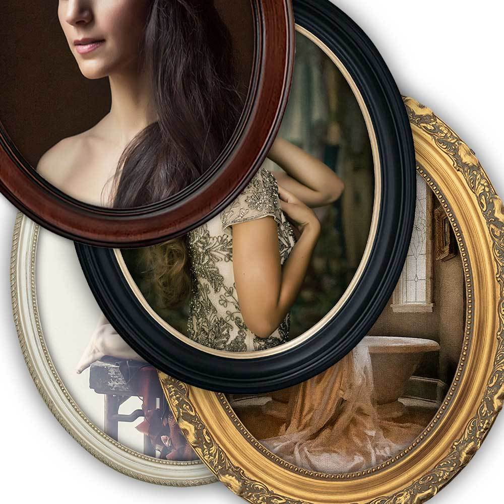 Oval Frame, Canvas