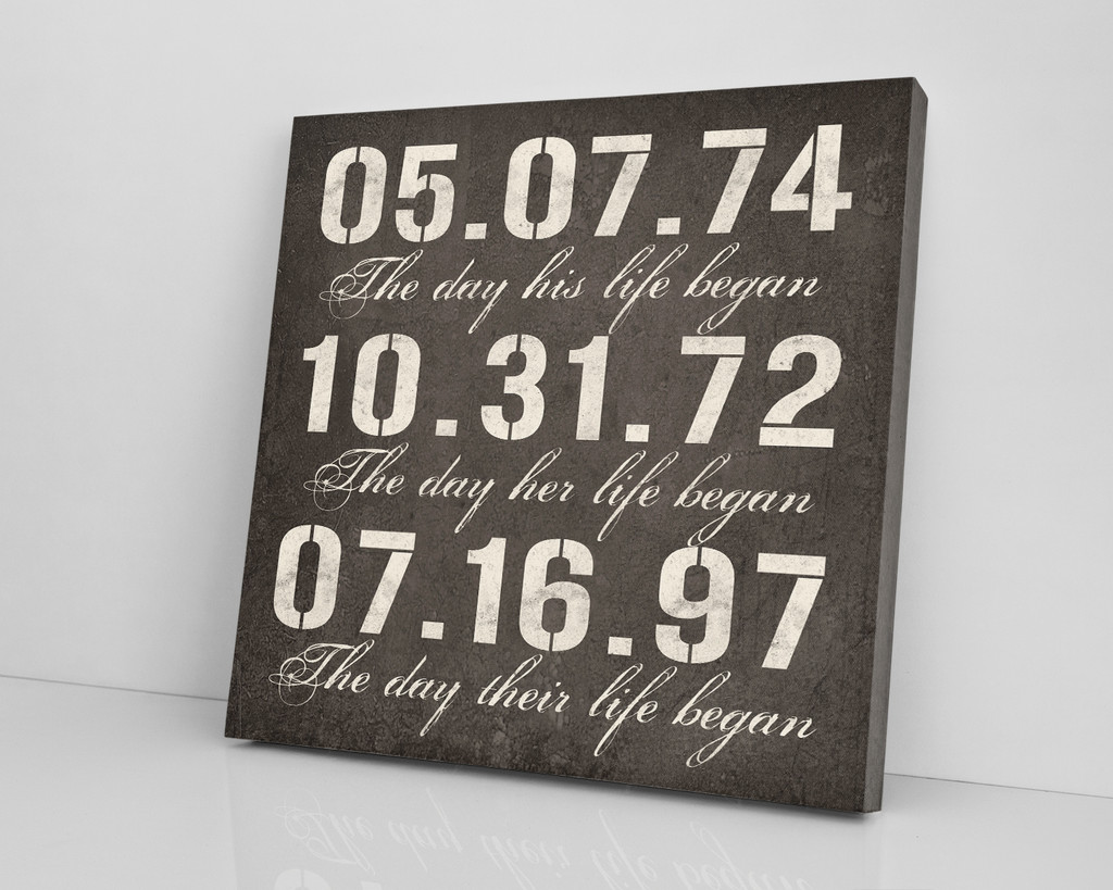 special dates anniversary canvas