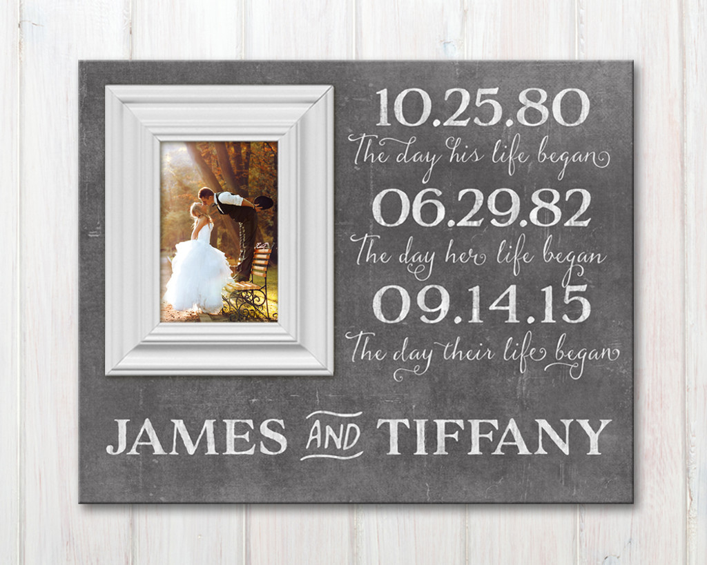 Wedding date picture frame