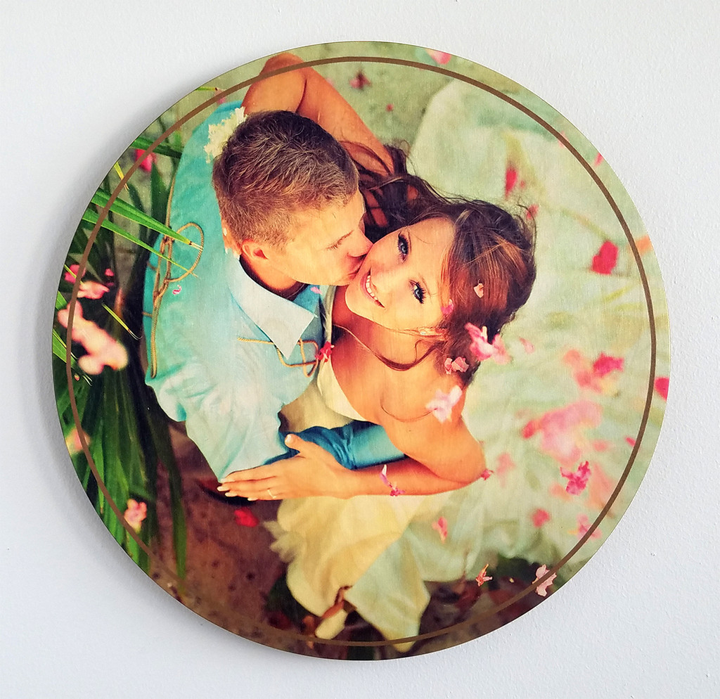 Print photos on wood