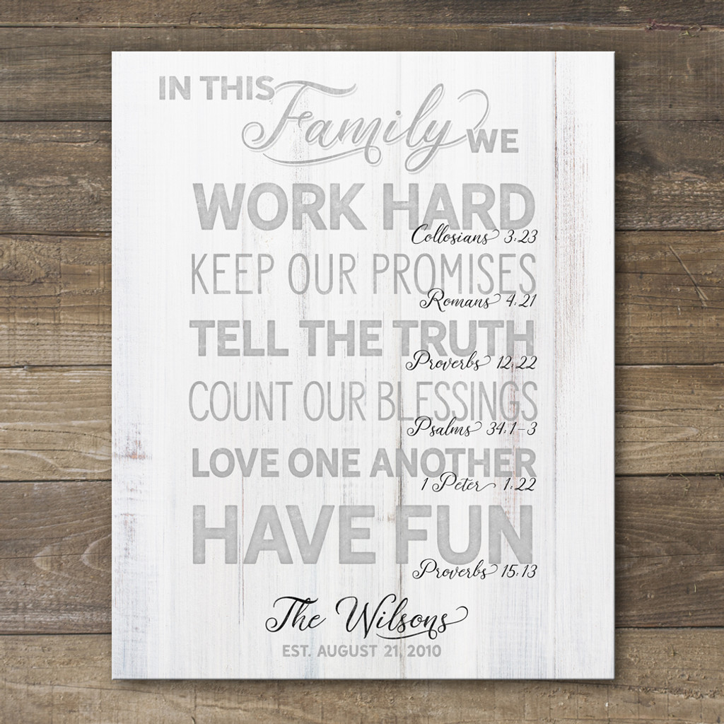 personalized family rules sign