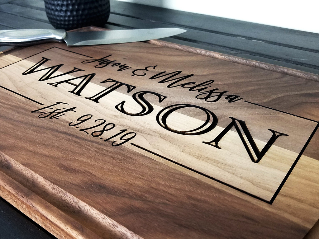 engraved wood cutting board