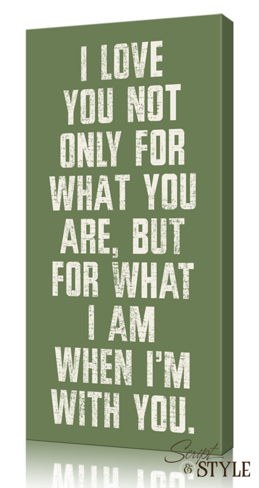 8197a5955e1c6 Quote on Canvas: I Love You For What You Are