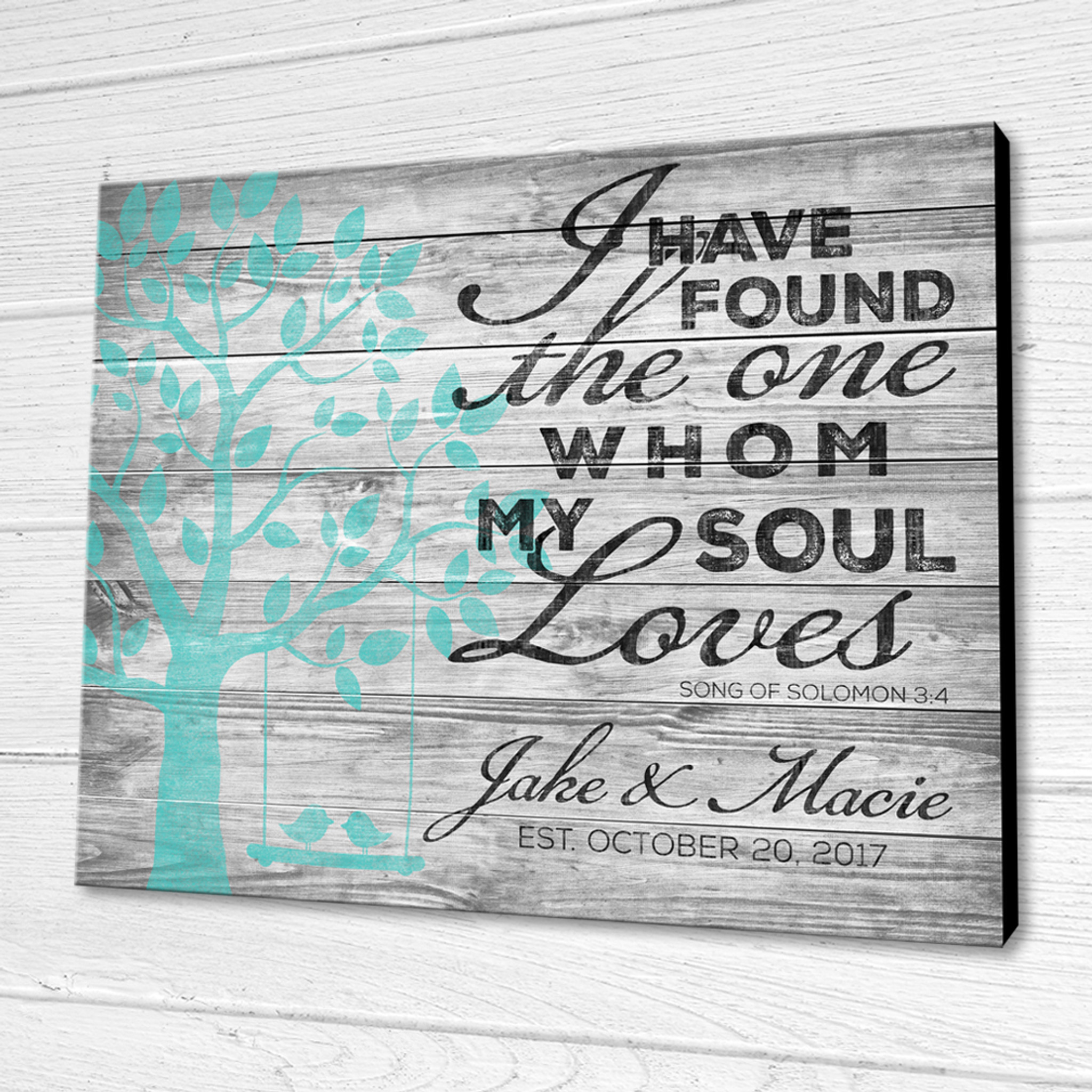 Personalized Wood Sign Song Of Solomon