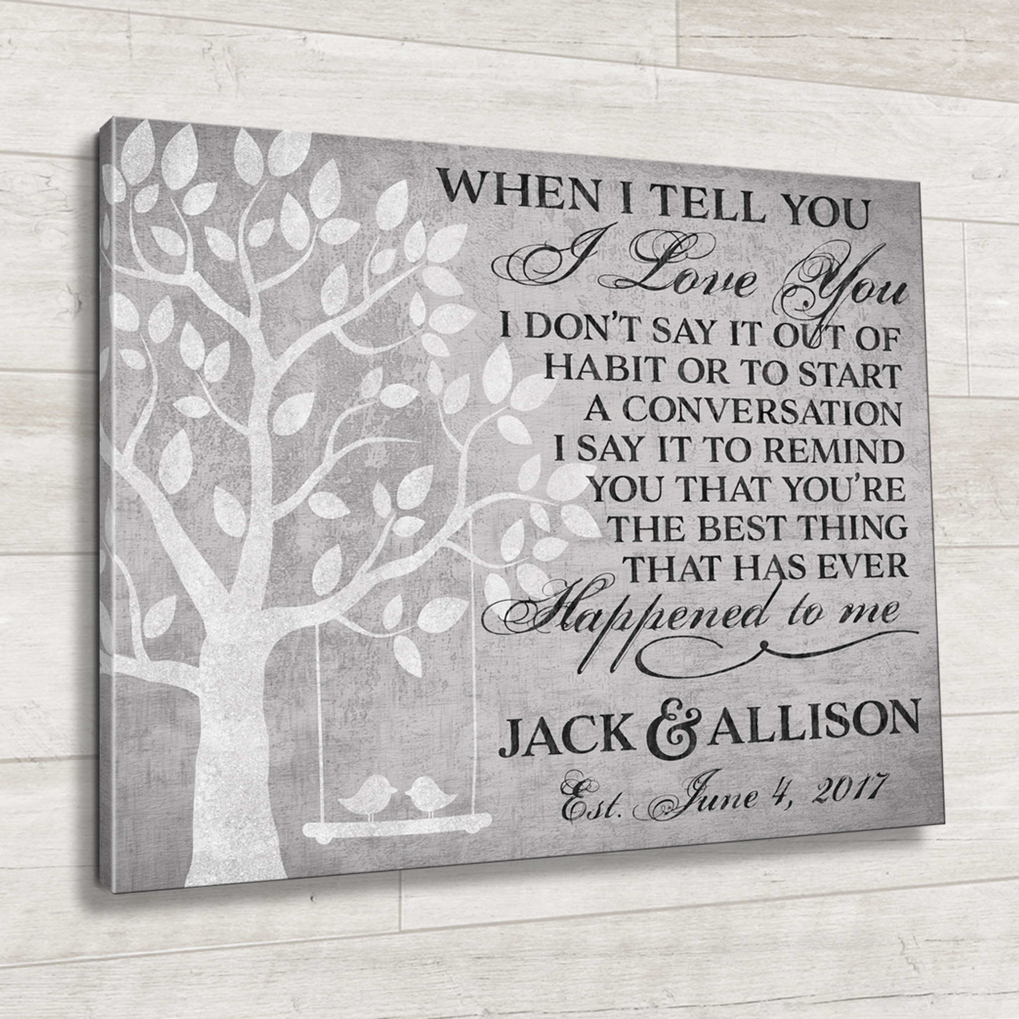 Personalized Quote Canvas The Best Thing