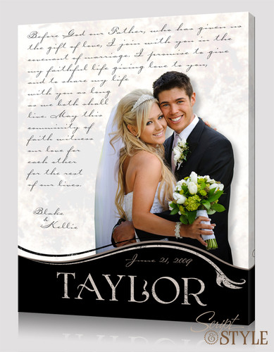 Personalized wedding photo wall art