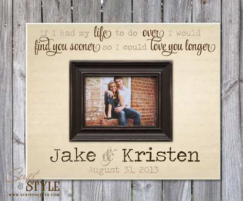 Personalized picture frame, Cream