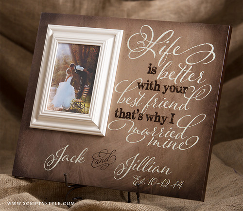 personalized established picture frame