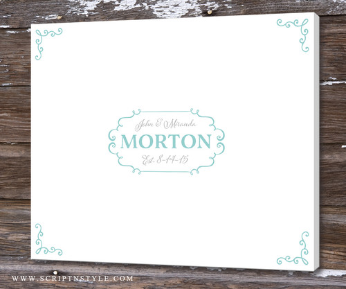 Wedding Guest Book Alternative Personalized Canvas