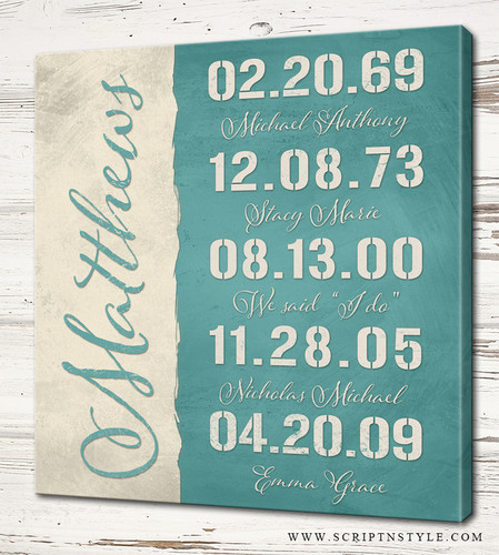 custom special dates sign
