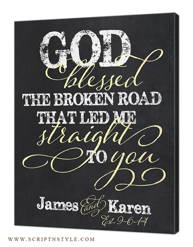 god blessed the broken road sign