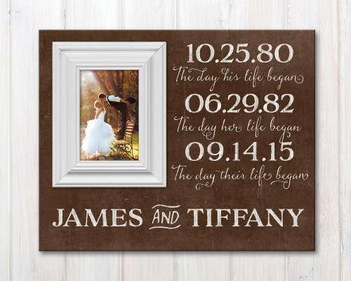 birth dates picture frame