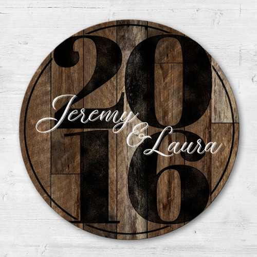 Personalized wooden established sign