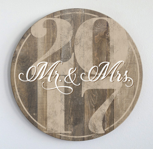 Barn wood family name sign