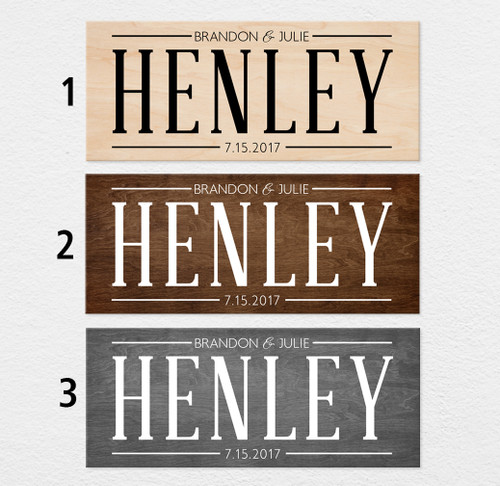 wood personalized family sign