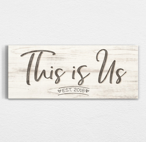 This is us custom wood sign