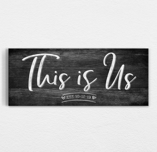 This is us personalized wood sign