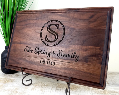 personalized wood cutting board fort worth
