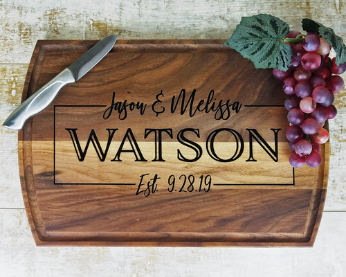 custom wood cutting board