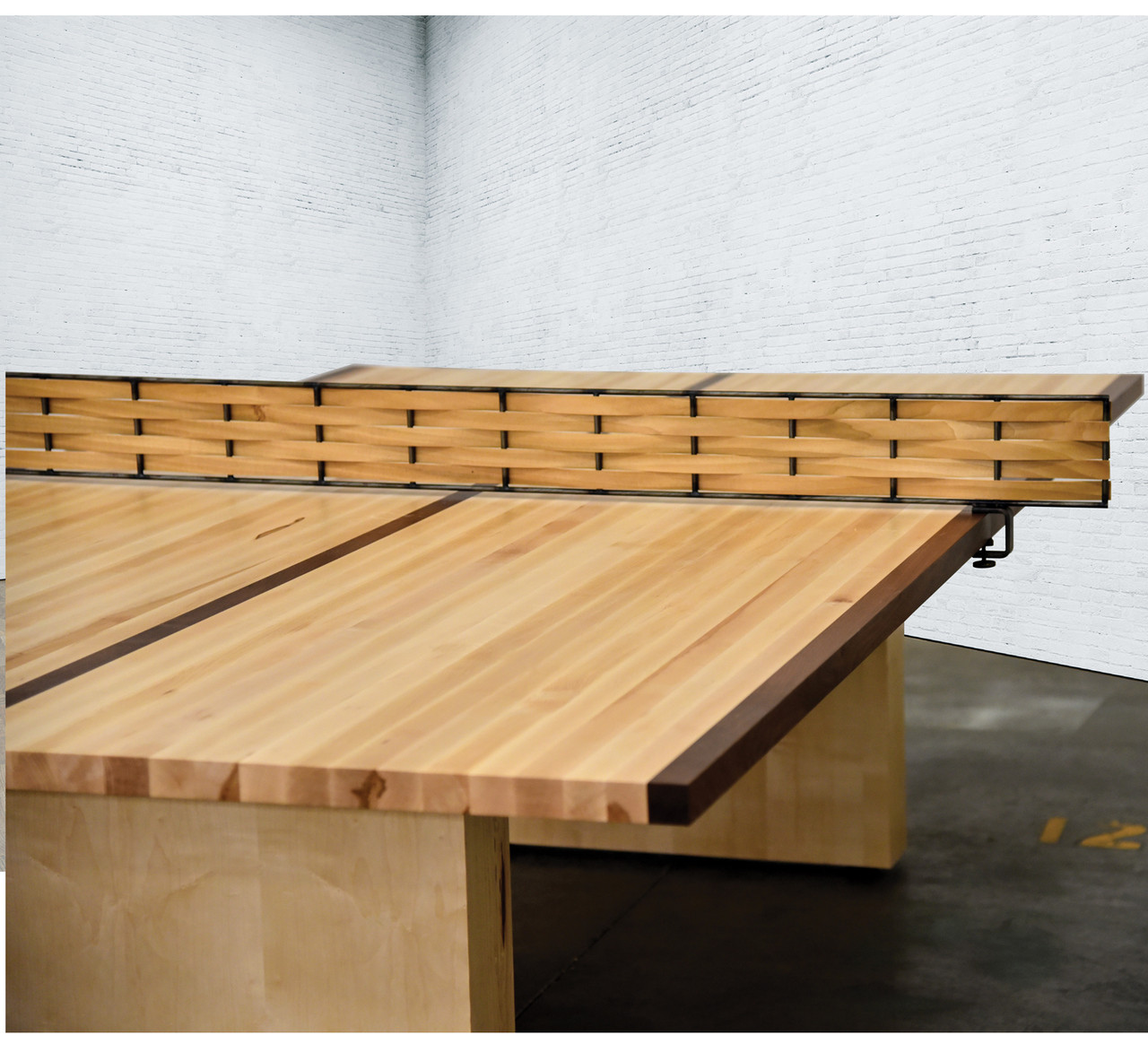 Turner Ping Pong Table In Elegant Maple Wood Free Shipping