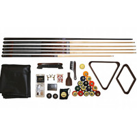 Renaissance Kit with Premium Cue Sticks and Billiard Table Accessories