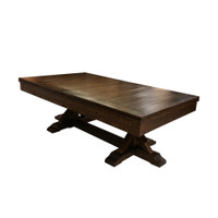 Thomas Pool Table with matching dining top option by Plank & Hide. Free shipping!
