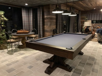 Thomas Pool Table with dining top option at Sawyer Twain