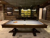 Dining Pool Table by Plank & Hide. The Thomas Pool Table with Dining Top option is available today at Sawyer Twain