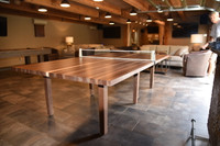 Winston Table Tennis. Handmade with Walnut and Maple Wood. Made in the USA