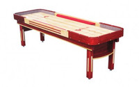 Grand Deluxe Shuffleboard Table with Cushions and Bumpers by Venture Shuffleboard