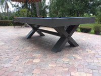 Weather Proof Billiards Table. Constructed with stainless steel and premium aluminum