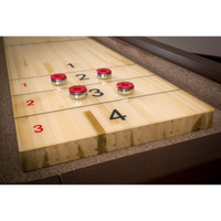 Maple Butcher Block with protective shuffleboard coating.
