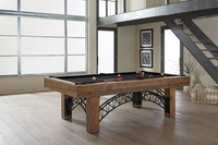 Rustic Pool Table with Premium Game Table Accessories