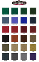 Choice of premium color felt by American Heritage Billiards
