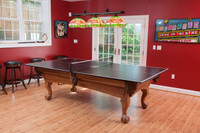 Table Tennis Top to go on your new pool table by Plank & Hide