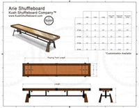 ARIE Shuffleboard Table w/Accessories by KUSH