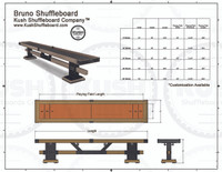 BRUNO Shuffleboard Table w/Accessories KUSH