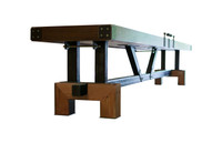 Rustic Pool Tables and Shuffleboards available at Sawyer Twain. FREE SHIPPING in the USA!
