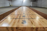 Maple Play Surface on all Shuffleboard Tables at Sawyer Twain