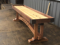 Craftsmen Shuffleboard Table in multiple sizes and finishes at Sawyer Twain