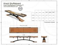 Americana Shuffleboard Table w/Accessories