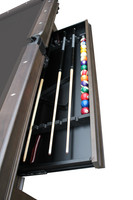 Storage Drawer for Cue Sticks and Pool Table Balls