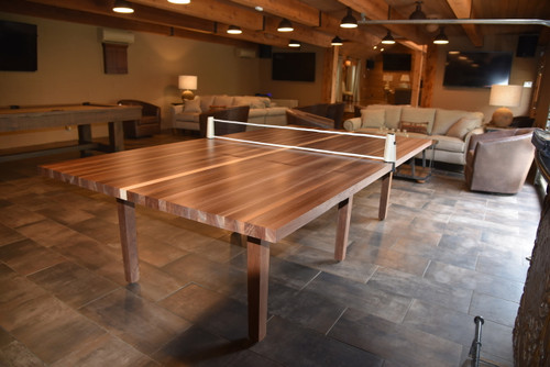 Solid Walnut Wood Ping Pong Table. Handmade with Maple & Walnut Wood