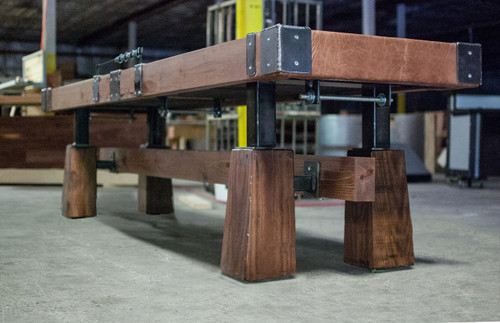 Rustic Shuffleboard Table. Made in the USA by KUSH Shuffleboard