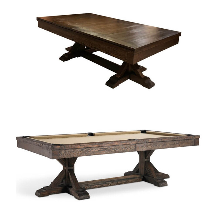 Designer Billiards Table with Matching Dining Top Option