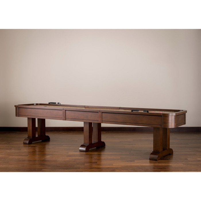 Designer Shuffleboard Table, perfect for any game room! Includes Premium Game Table Accessories.