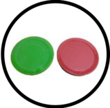 Colored commercial grade pucks
