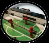 Foosball table goalie area