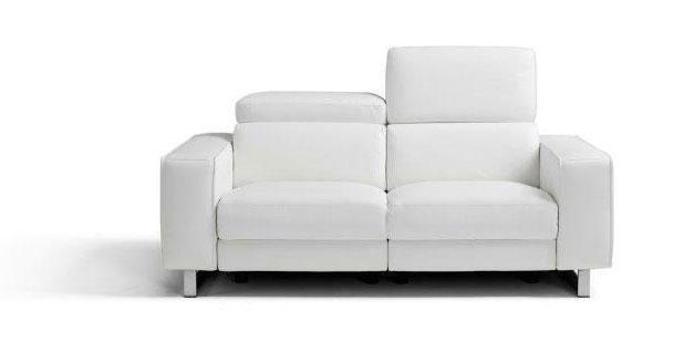 white recliner loveseat